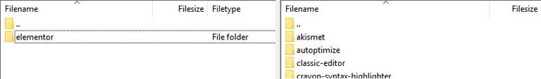 صفحه برنامه FTP برای آپلود پلاگین
