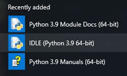 برنامههای پیشفرض نصبشده python