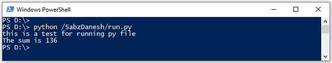 اجرای فایل پایتون در CMD با آدرسدهی کامل