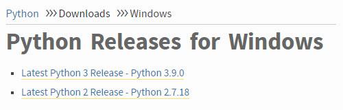 فایل نصبی پایتون برای ویندوز