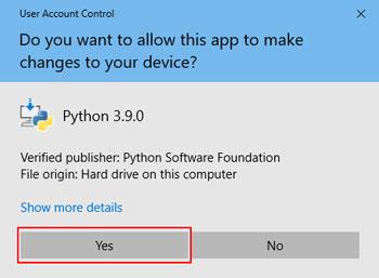 هشدار ویندوز برای نصب برنامهها