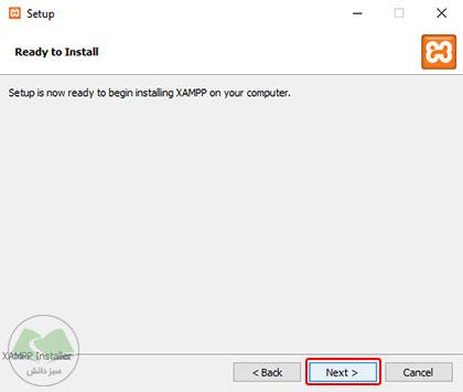 تأیید تنظیمات قبلی و شروع فرآیند نصب