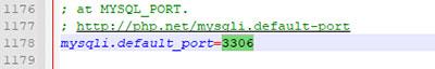 تغییر پورت پایگاه داده برای وبسرور