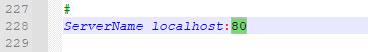 تصویر کد تغییر پورت آپاچی زمپ
