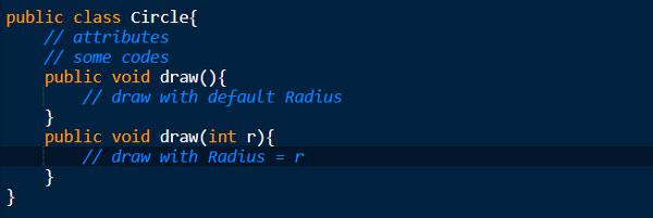 مثال overloading چند ریختی کلاسها