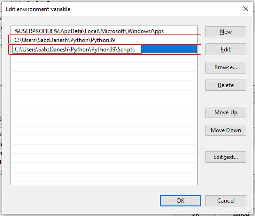 تنظیم مسیر path پایتون در ویندوز