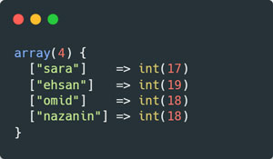 خروجی دیکد آرایهای JSON در PHP