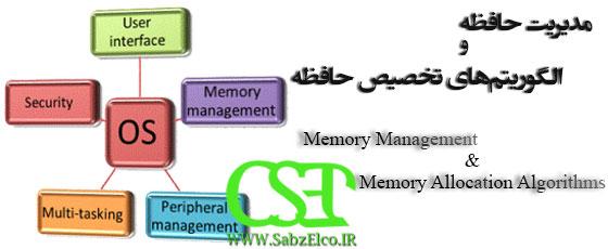 الگوریتم های تخصیص حافظه و مدیریت حافظه